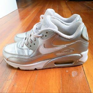 Silver Nike AIR women's 6.5